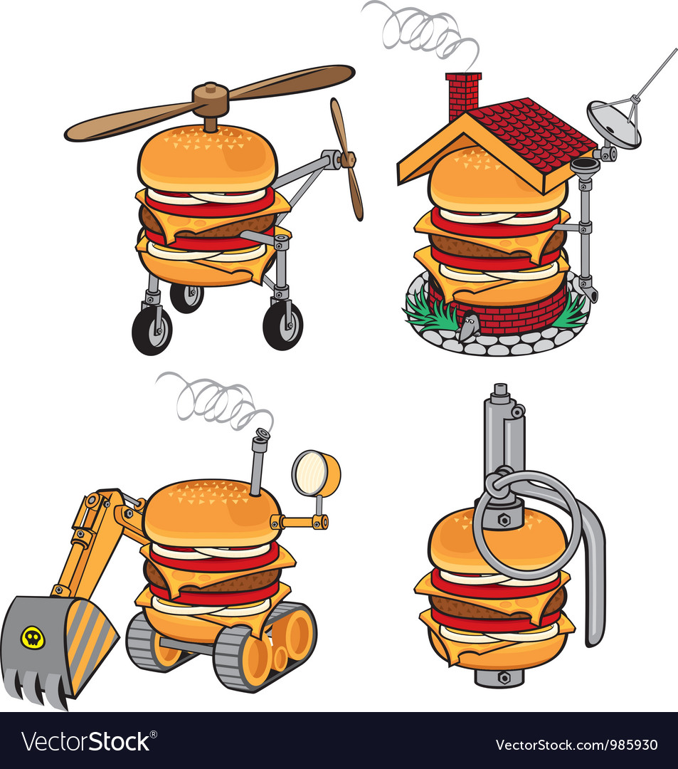 Super cheeseburger vector | Price: 3 Credit (USD $3)