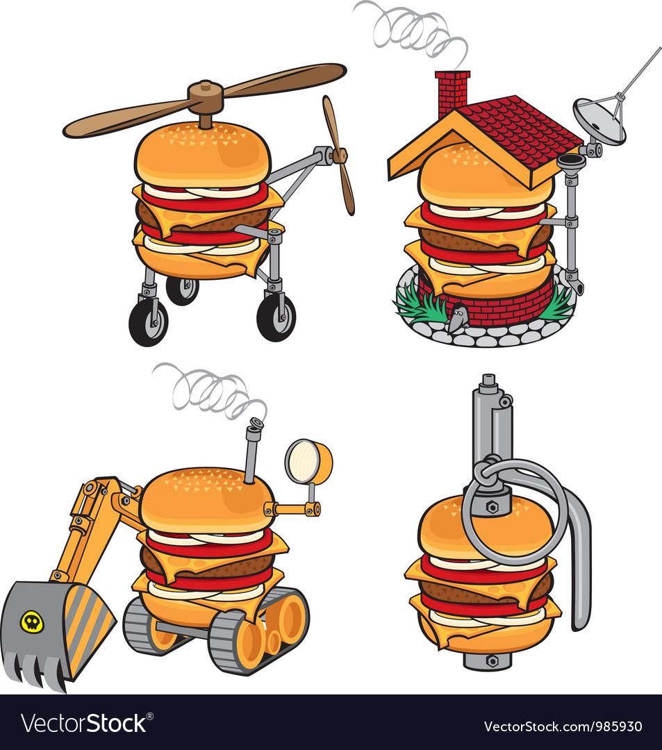 Super cheeseburger vector | Price: 3 Credit (USD $3)