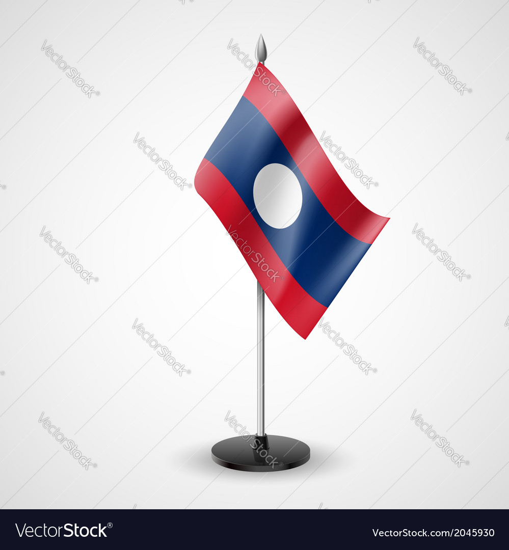 Table flag of laos vector | Price: 1 Credit (USD $1)
