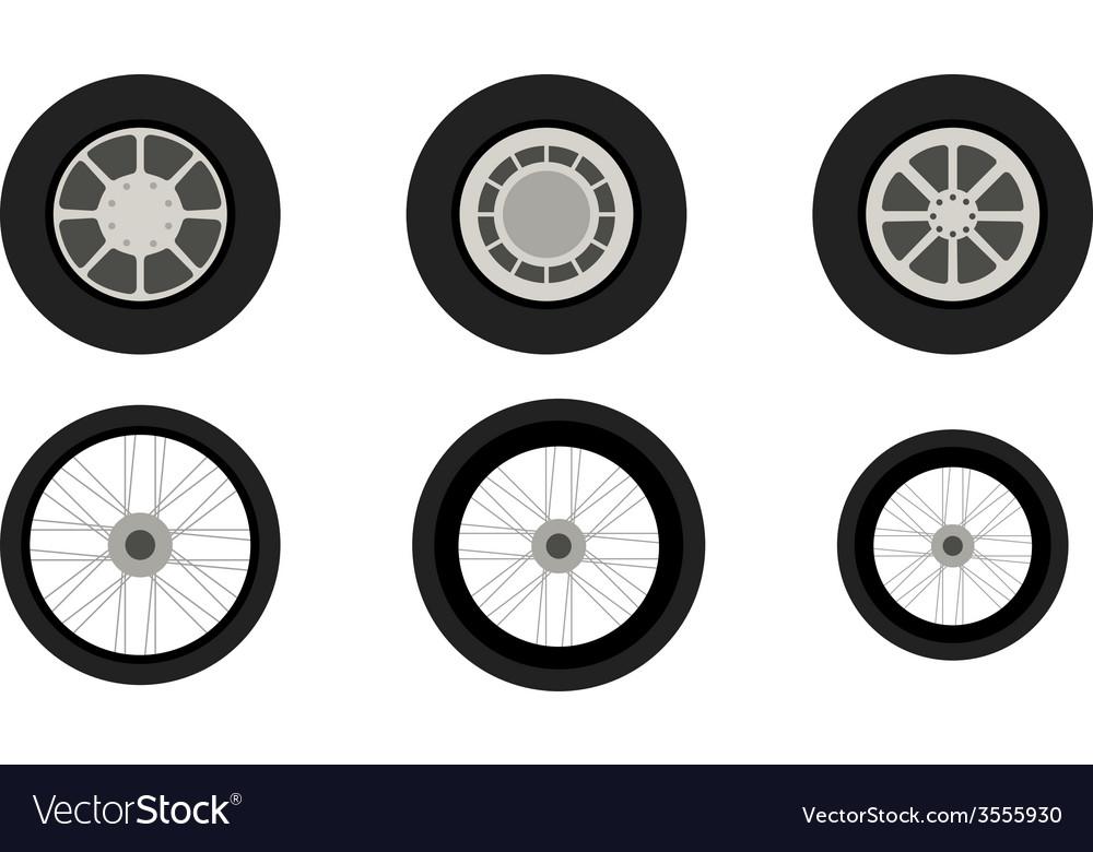 Vehicle wheels vector | Price: 1 Credit (USD $1)