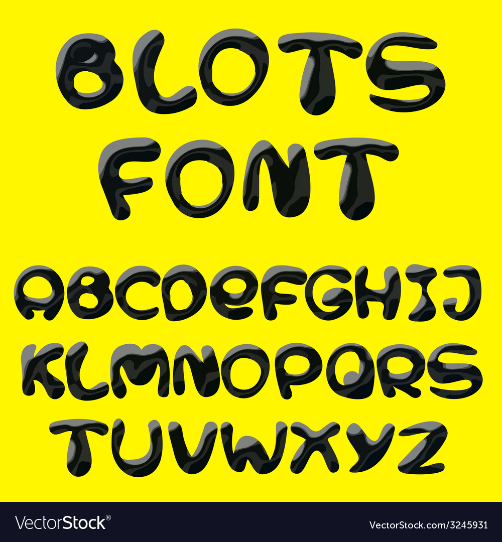 Blots alphabet vector | Price: 1 Credit (USD $1)