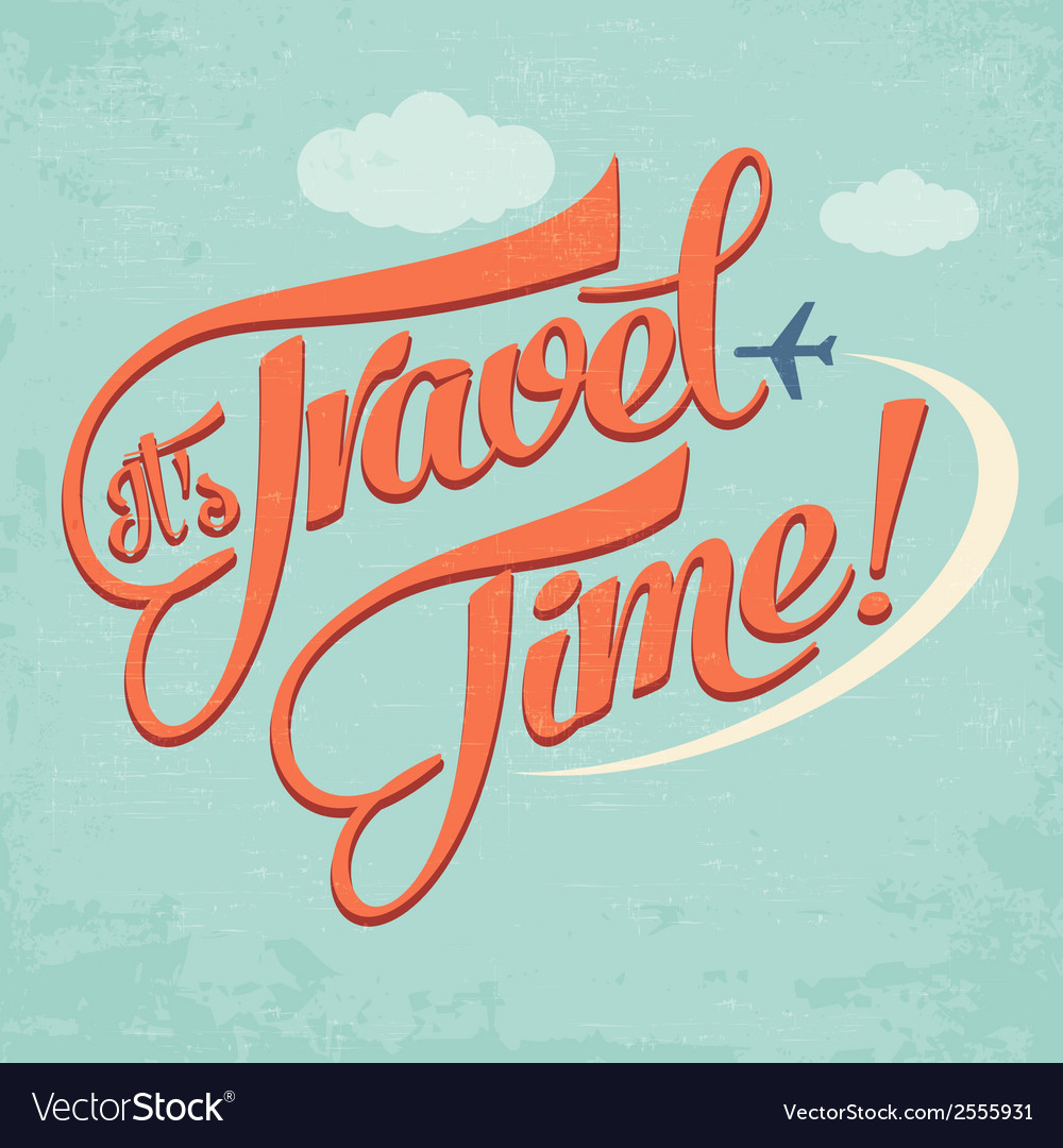Calligraphic writing its travel time vector | Price: 1 Credit (USD $1)