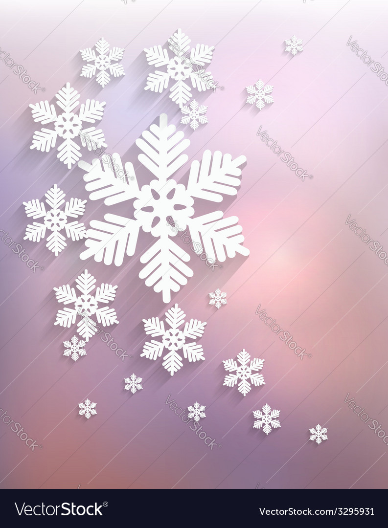 Christmas postcard with snowflakes vector   Price: 1 Credit (USD $1)