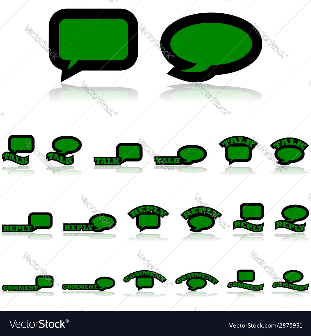 Interaction icons vector | Price: 1 Credit (USD $1)