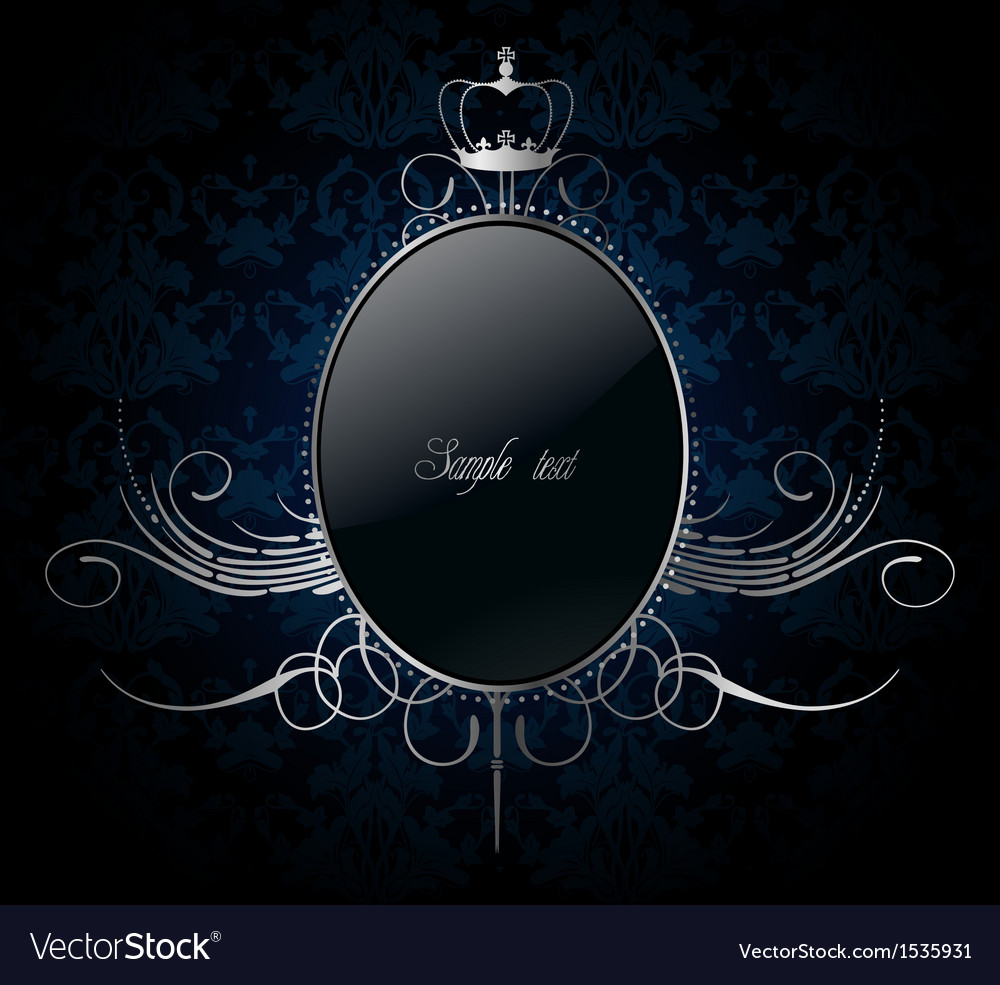 Royal background with golden frame vector | Price: 1 Credit (USD $1)