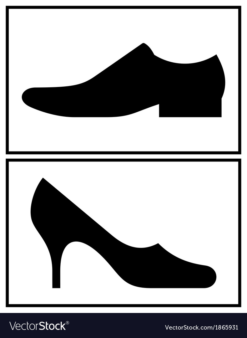 Women and men shoe vector | Price: 1 Credit (USD $1)