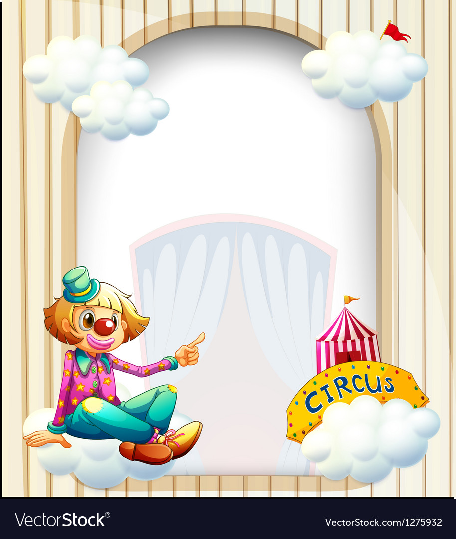 An empty entrance-like template with a clown vector | Price: 1 Credit (USD $1)