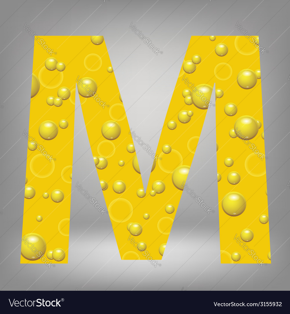 Beer letter m vector | Price: 1 Credit (USD $1)