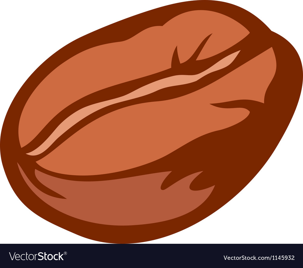 Brown roasted coffee bean vector | Price: 1 Credit (USD $1)