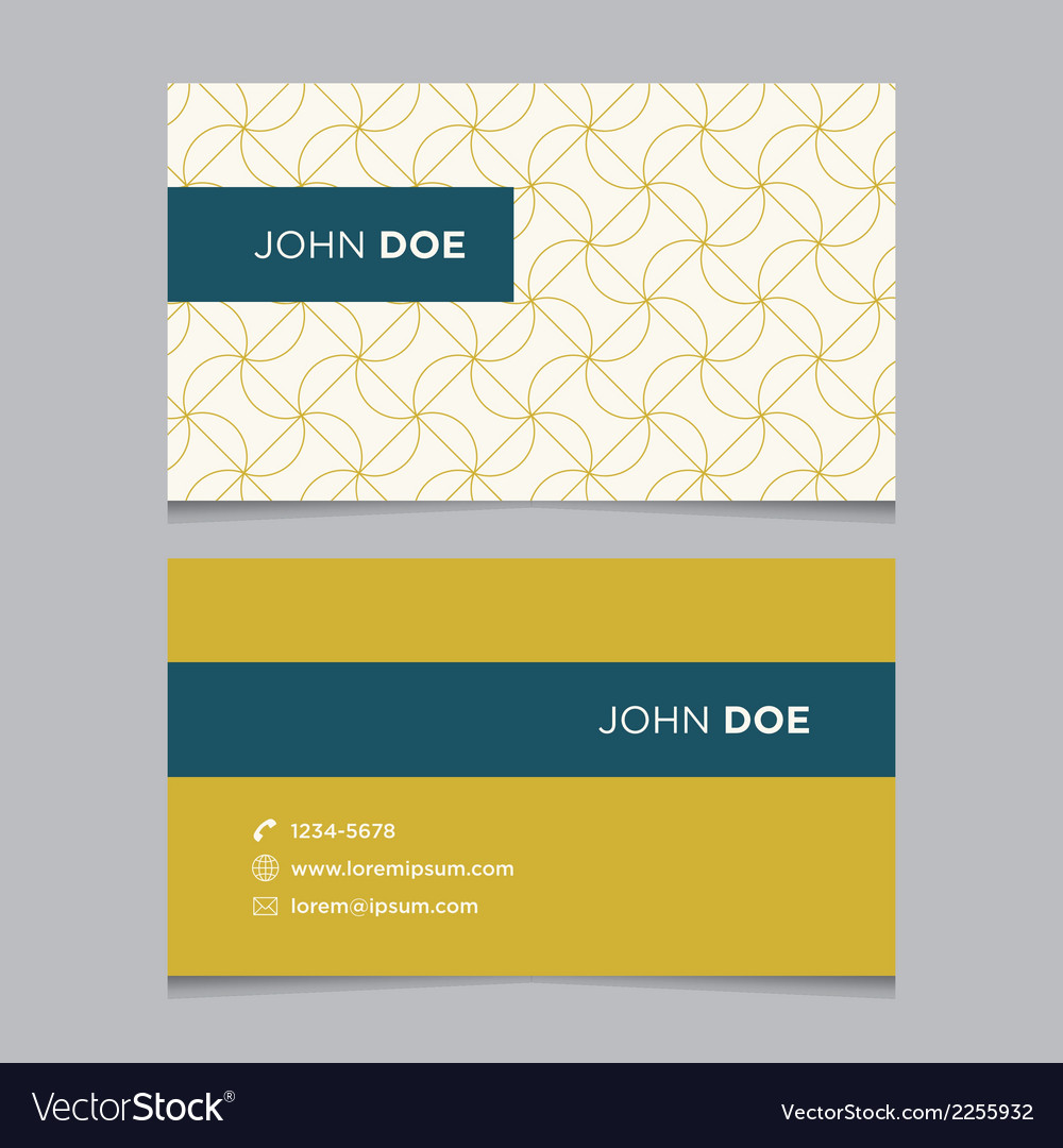 Business card pattern yellow 08 vector | Price: 1 Credit (USD $1)