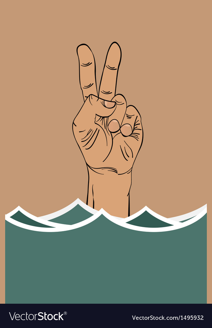 Drowning hand vector | Price: 1 Credit (USD $1)