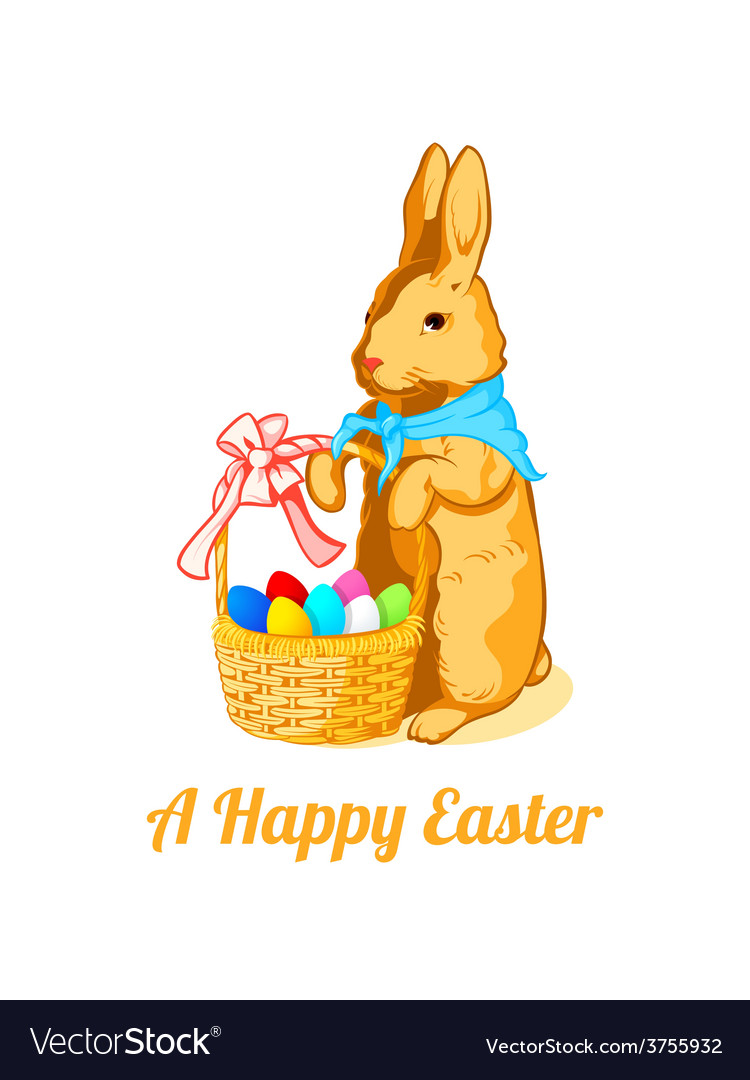Easter rabbit with eggs vector | Price: 1 Credit (USD $1)