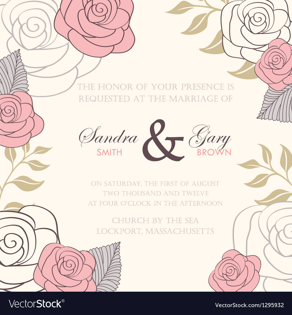 Invitation wedding card vector | Price: 1 Credit (USD $1)