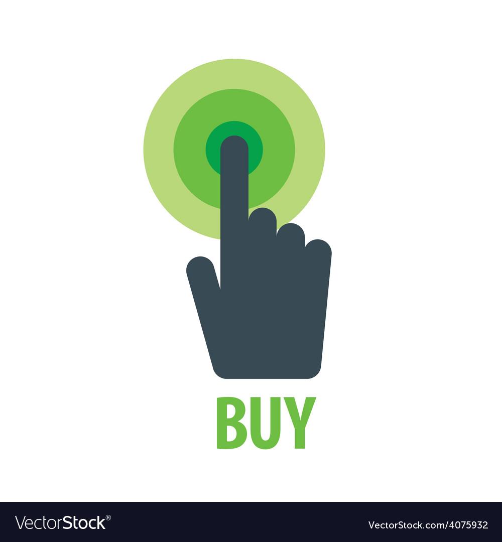 Logo hand presses the button vector   Price: 1 Credit (USD $1)