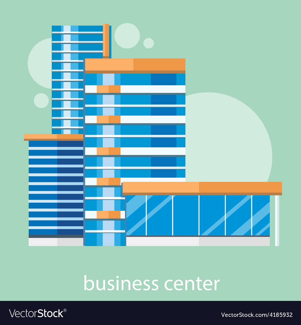 Modern business center vector   Price: 1 Credit (USD $1)