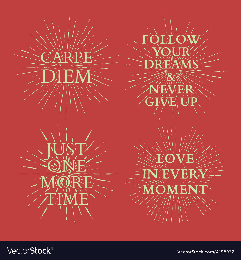 Motivational quotes on sun burst tshirt print vector