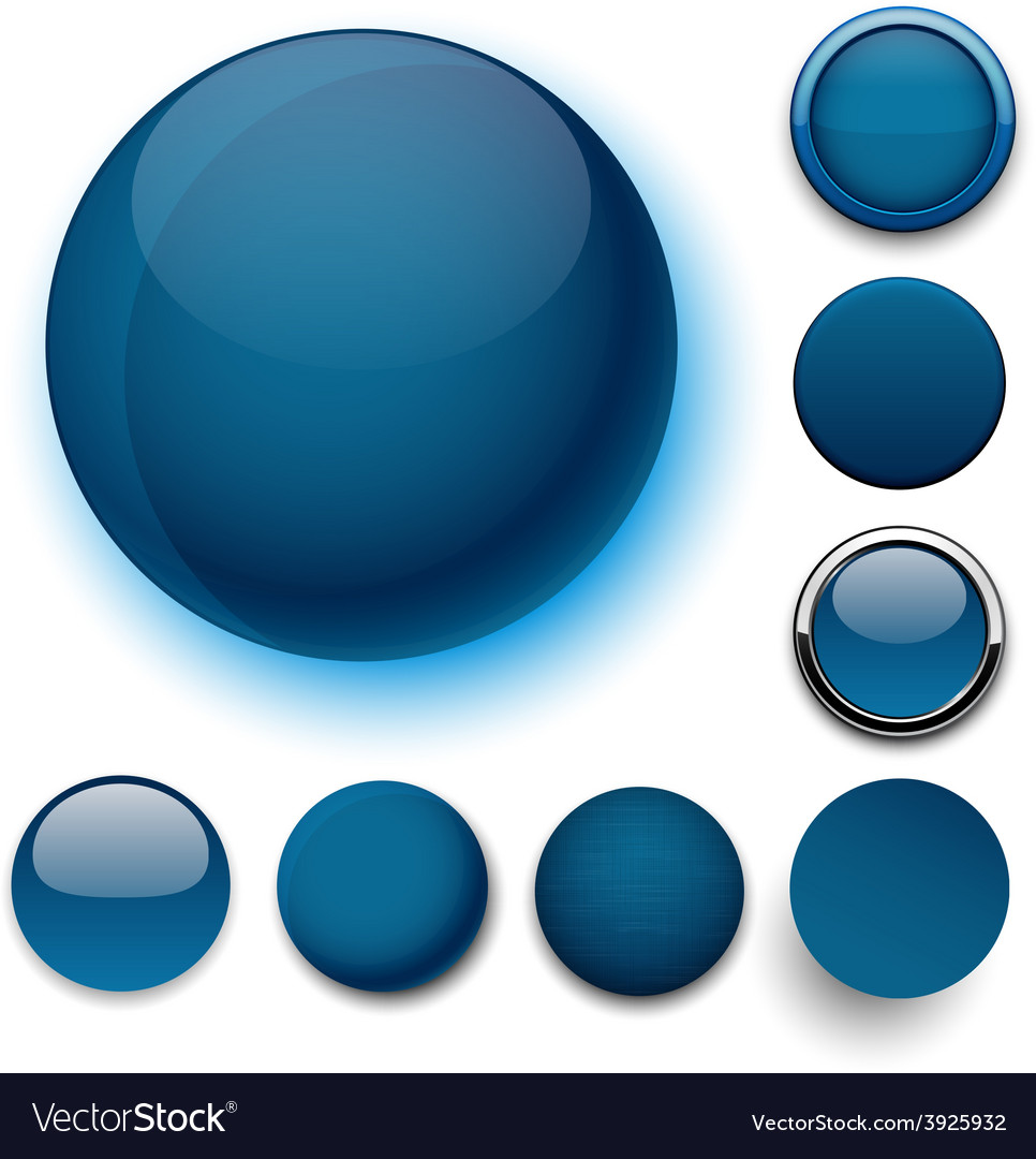 Round dark blue icons vector | Price: 1 Credit (USD $1)