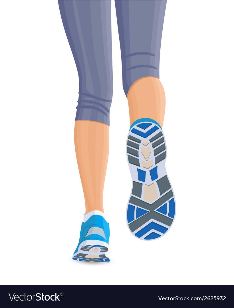 Runing female legs vector   Price: 1 Credit (USD $1)