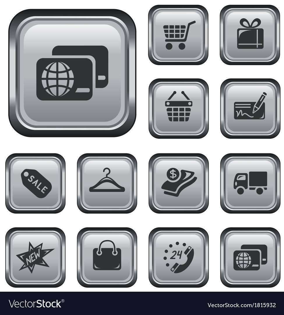 Shopping buttons vector | Price: 1 Credit (USD $1)