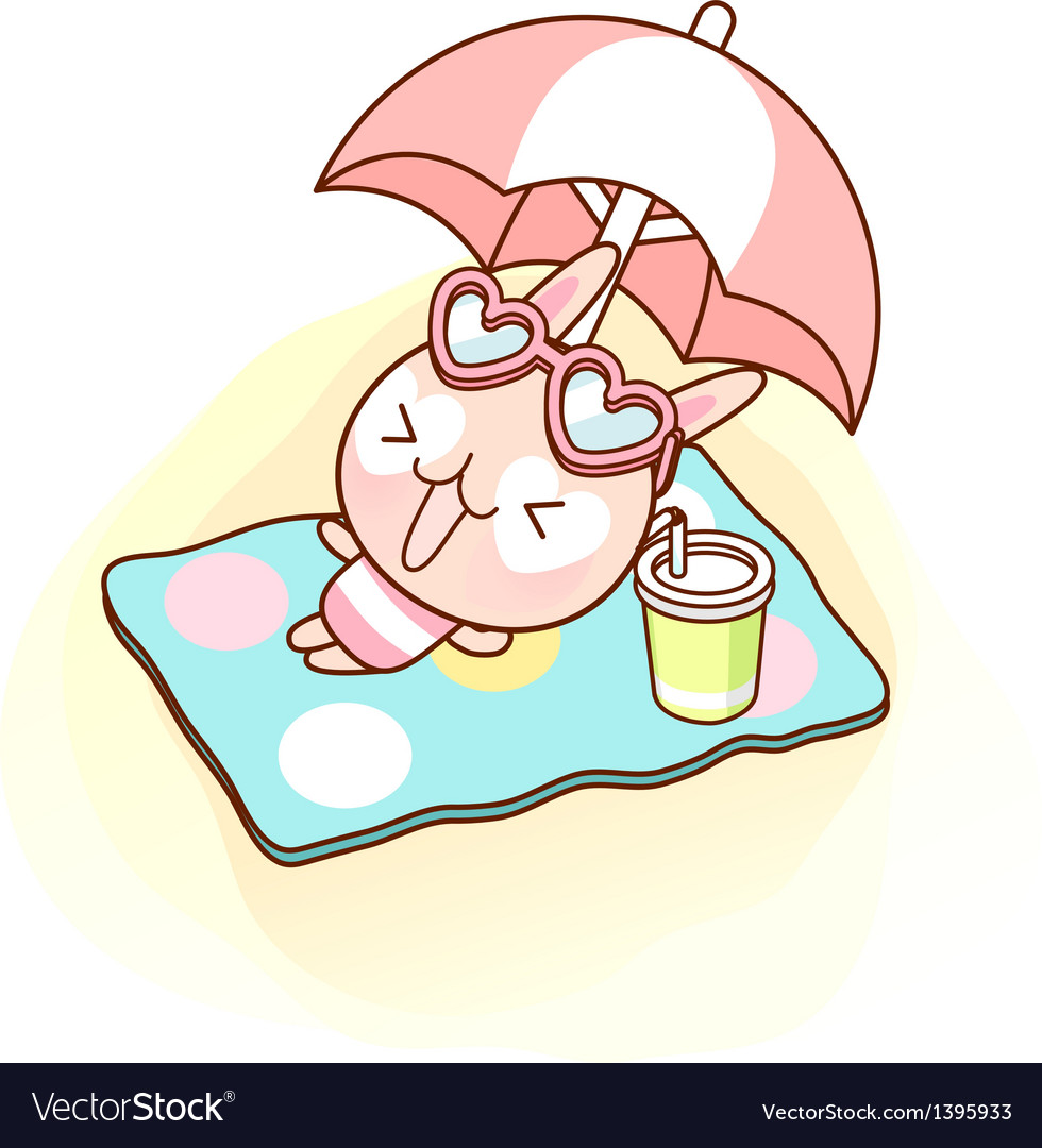 A tanning under parasol vector | Price: 1 Credit (USD $1)