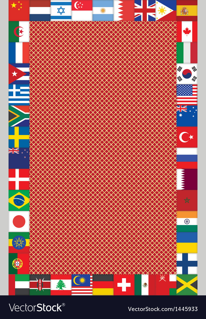 Background with frame made of flags vector | Price: 1 Credit (USD $1)