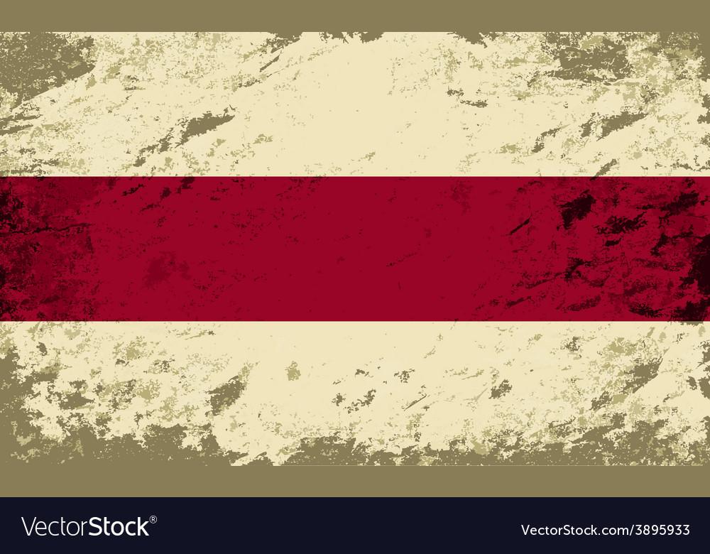 Belarusian flag grunge background vector | Price: 1 Credit (USD $1)