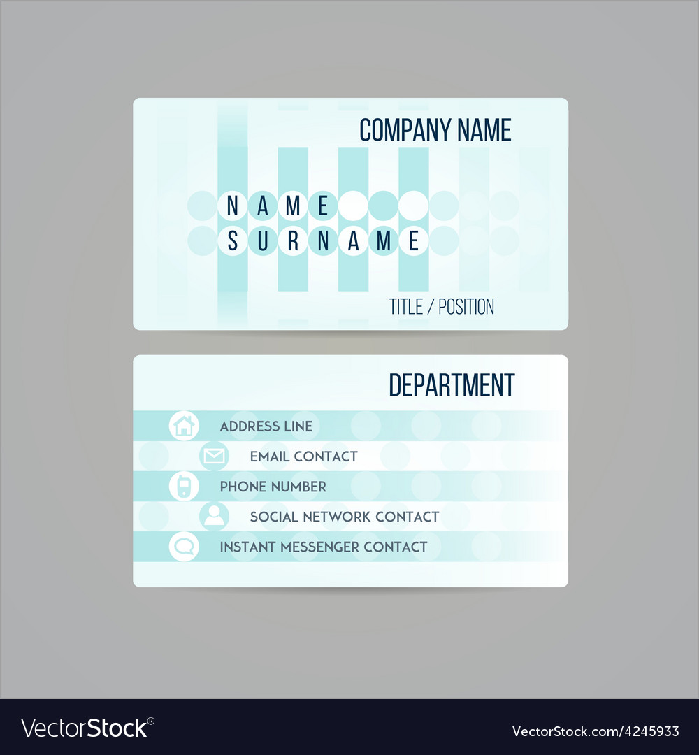Business card template made in subtle teal circled vector | Price: 1 Credit (USD $1)