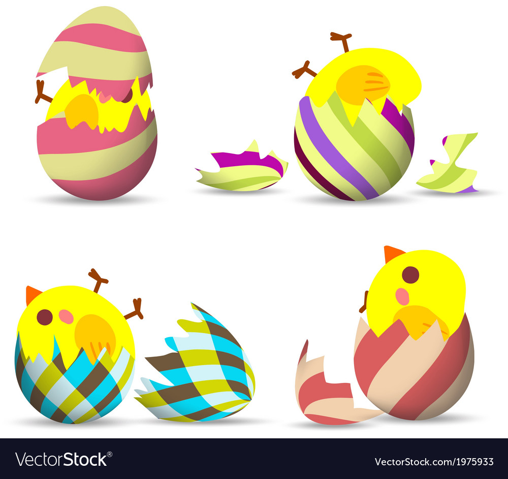 Eggs hatch vector | Price: 1 Credit (USD $1)