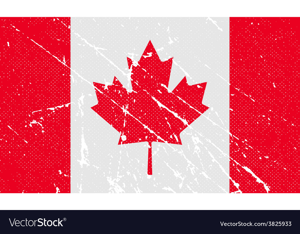 Flag of canada with old texture vector   Price: 1 Credit (USD $1)