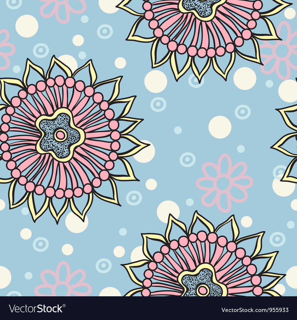 Floral seamless abstract hand drawn pattern vector | Price: 1 Credit (USD $1)
