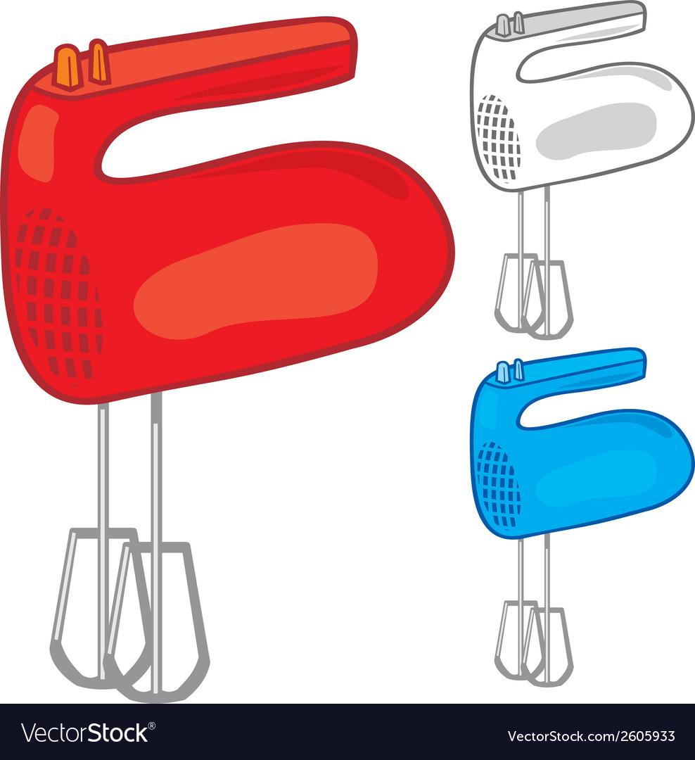 Kitchen hand mixer vector | Price: 1 Credit (USD $1)