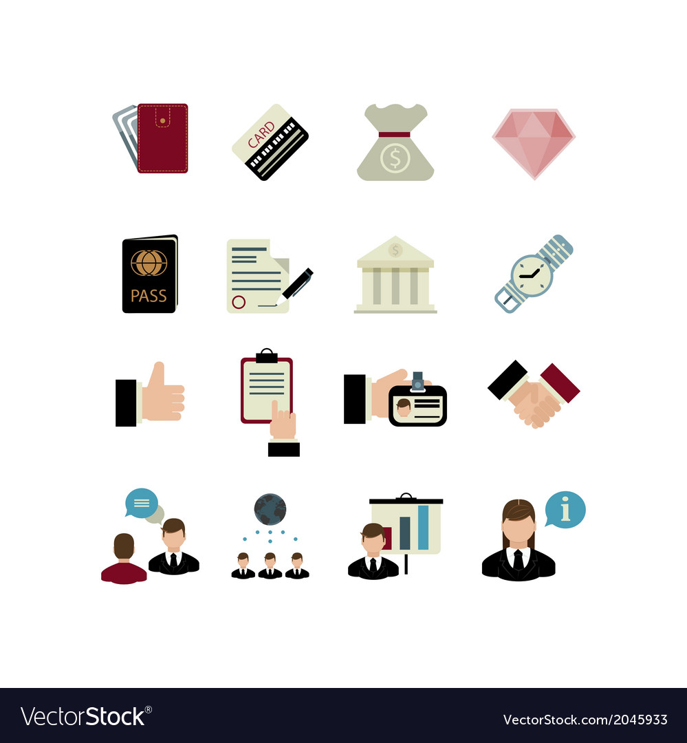 Set of bank icons vector | Price: 1 Credit (USD $1)