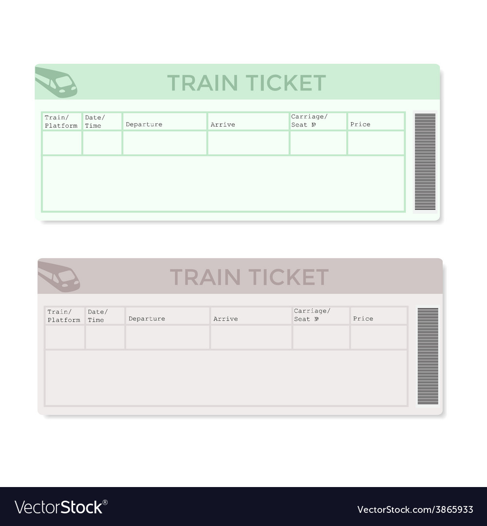 Train tickets in two versions light color vector | Price: 1 Credit (USD $1)