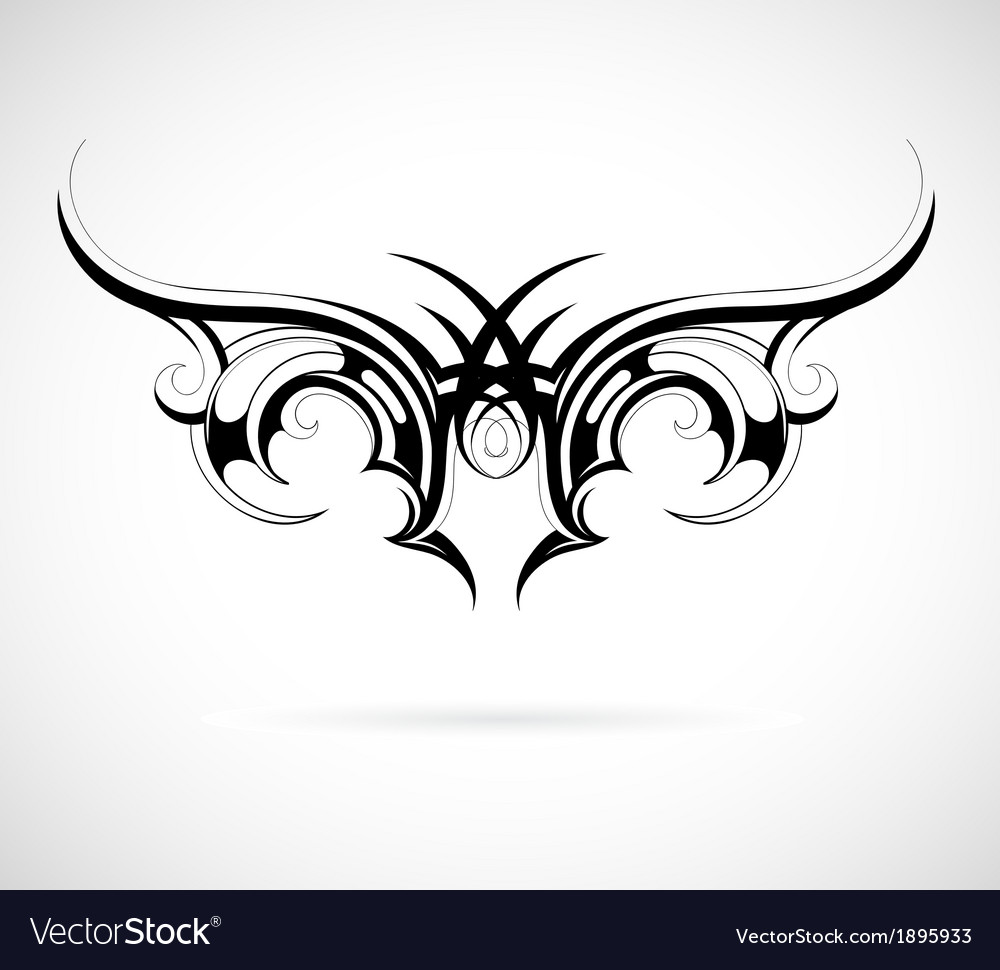 Tribal wing tattoo vector | Price: 1 Credit (USD $1)
