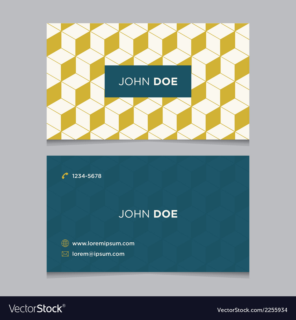Business card pattern yellow 09 vector | Price: 1 Credit (USD $1)