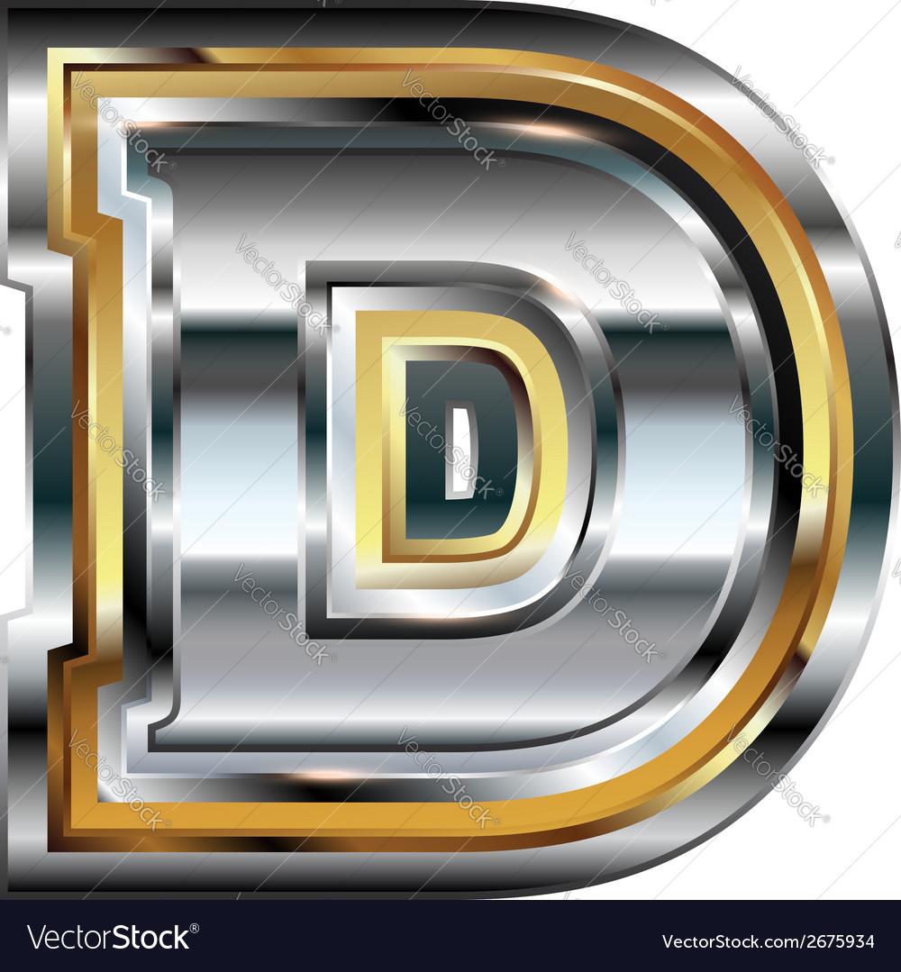 Fancy font letter d vector | Price: 1 Credit (USD $1)