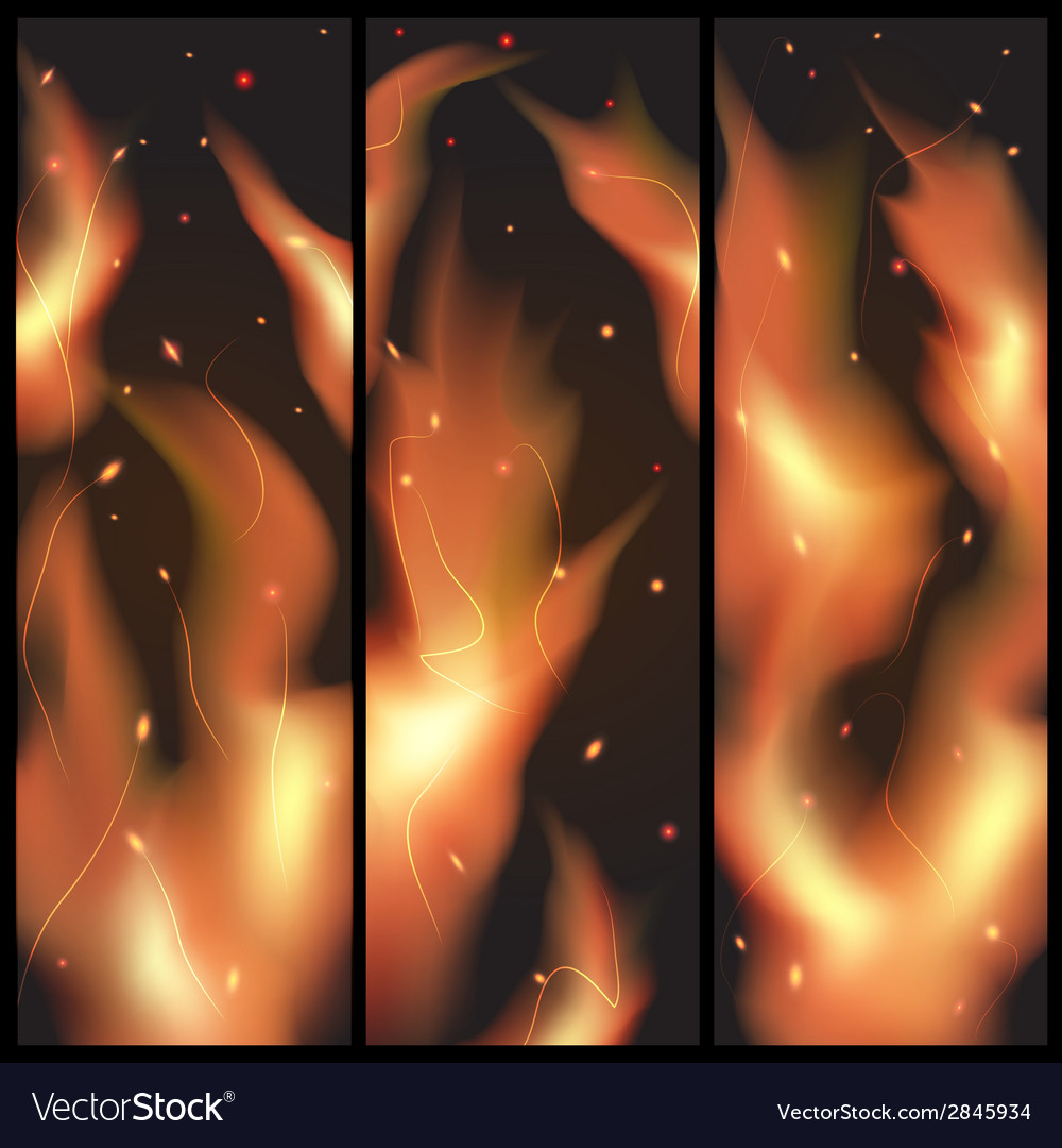 Fire flames on a black background vector | Price: 1 Credit (USD $1)