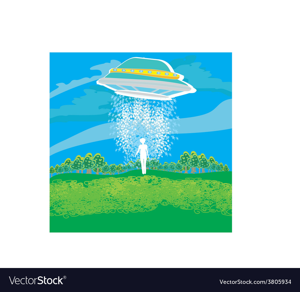 Flying saucer arrived vector | Price: 1 Credit (USD $1)