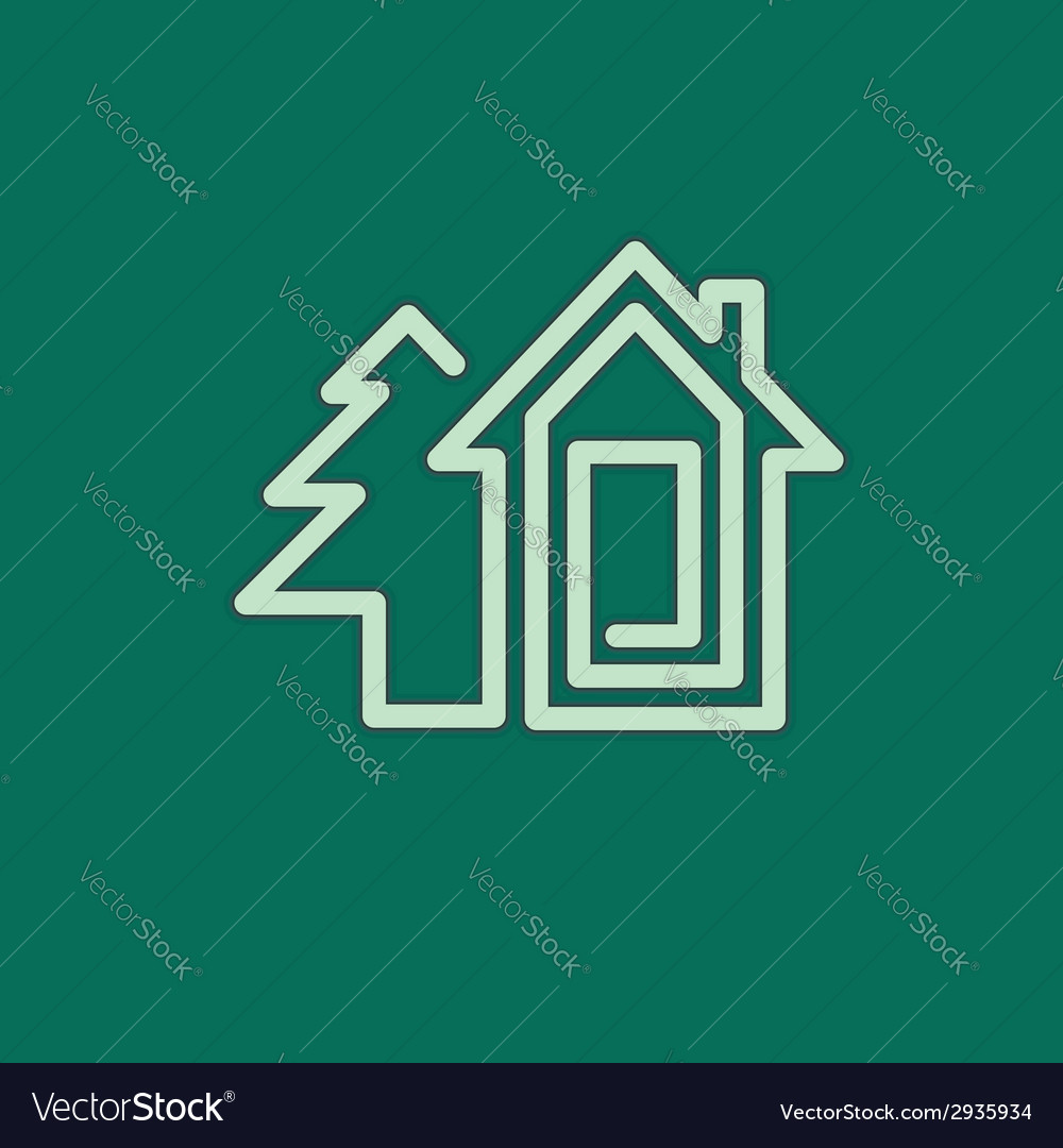 Real estate house symbol vector | Price: 1 Credit (USD $1)