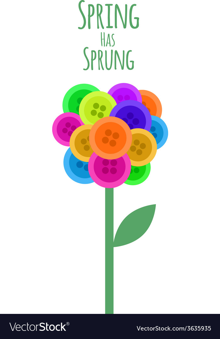 Abctract buttons flower spring has sprung vector | Price: 1 Credit (USD $1)