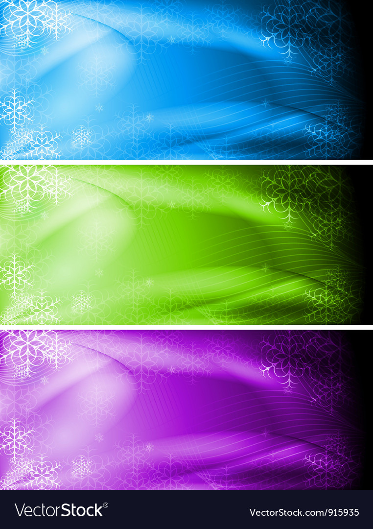 Abstract christmas banners vector | Price: 1 Credit (USD $1)