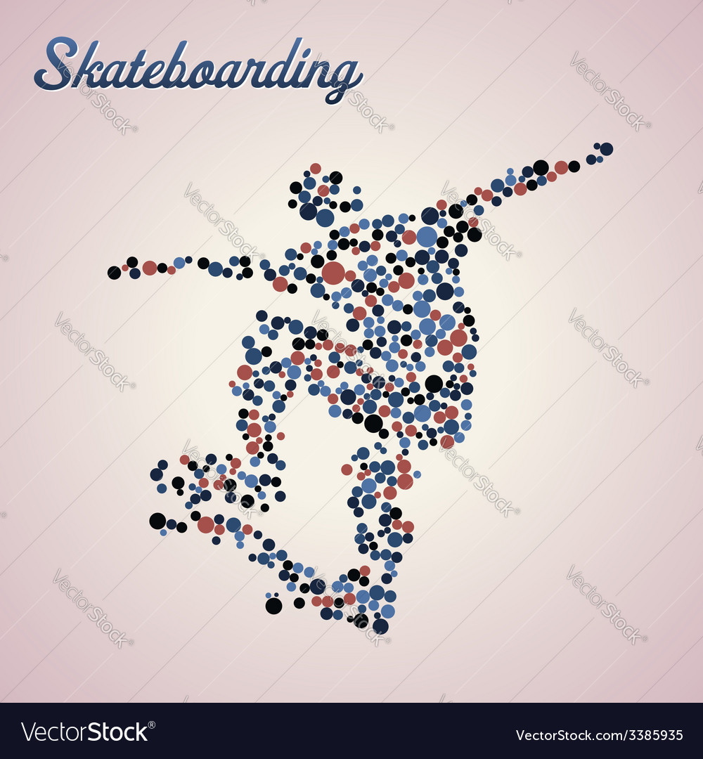Abstract skateboarder in jump vector | Price: 1 Credit (USD $1)