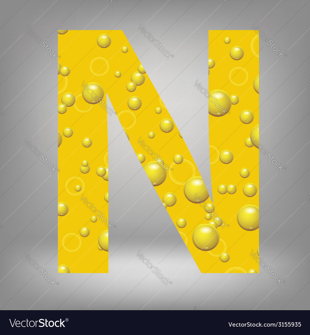 Beer letter n vector | Price: 1 Credit (USD $1)