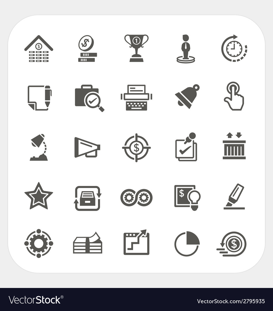 Business and finance icons set vector | Price: 1 Credit (USD $1)