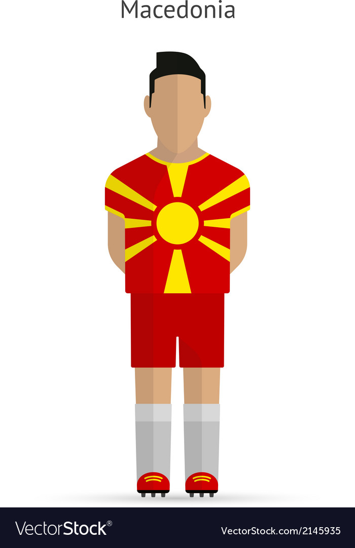 Macedonia football player soccer uniform vector | Price: 1 Credit (USD $1)