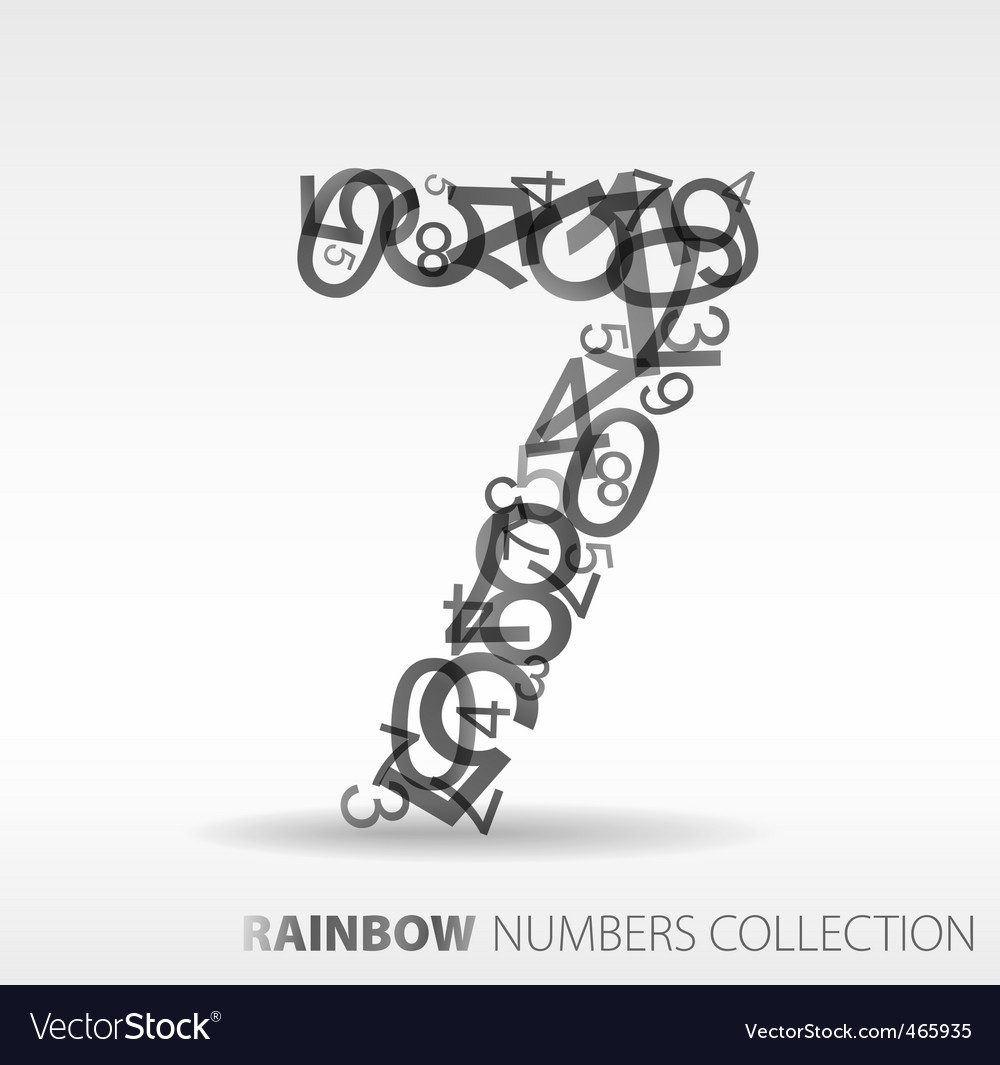 Number seven design elements vector | Price: 1 Credit (USD $1)