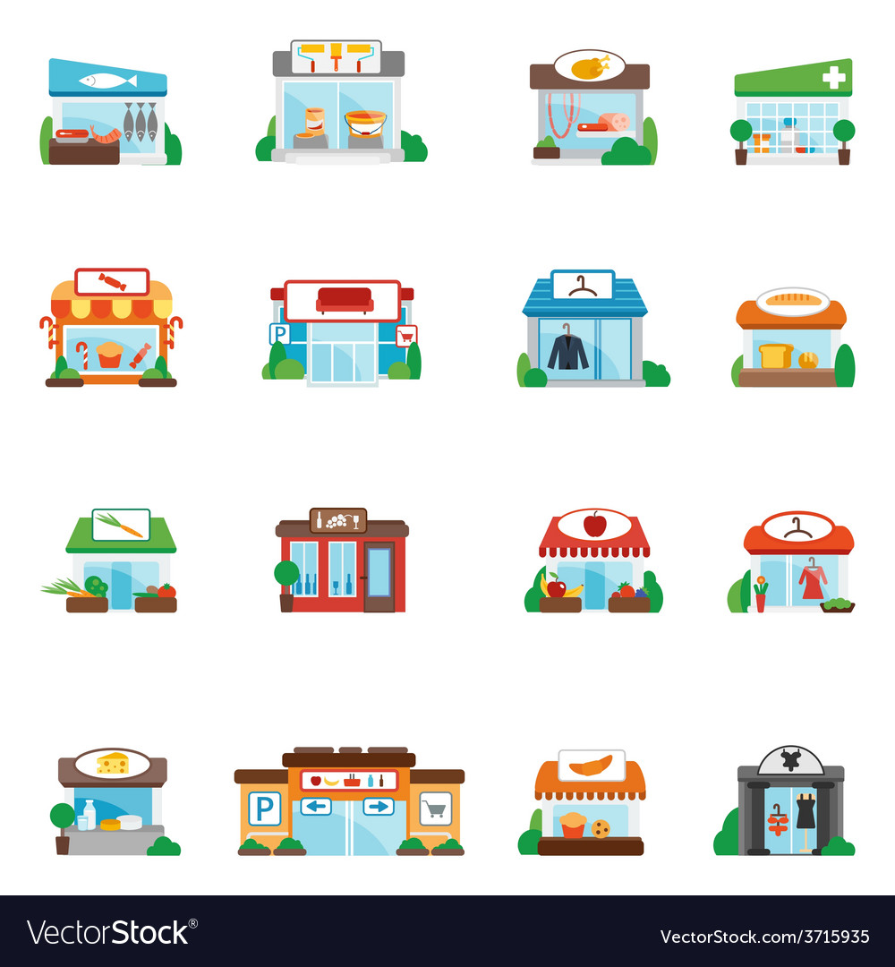 Store building flat vector   Price: 1 Credit (USD $1)
