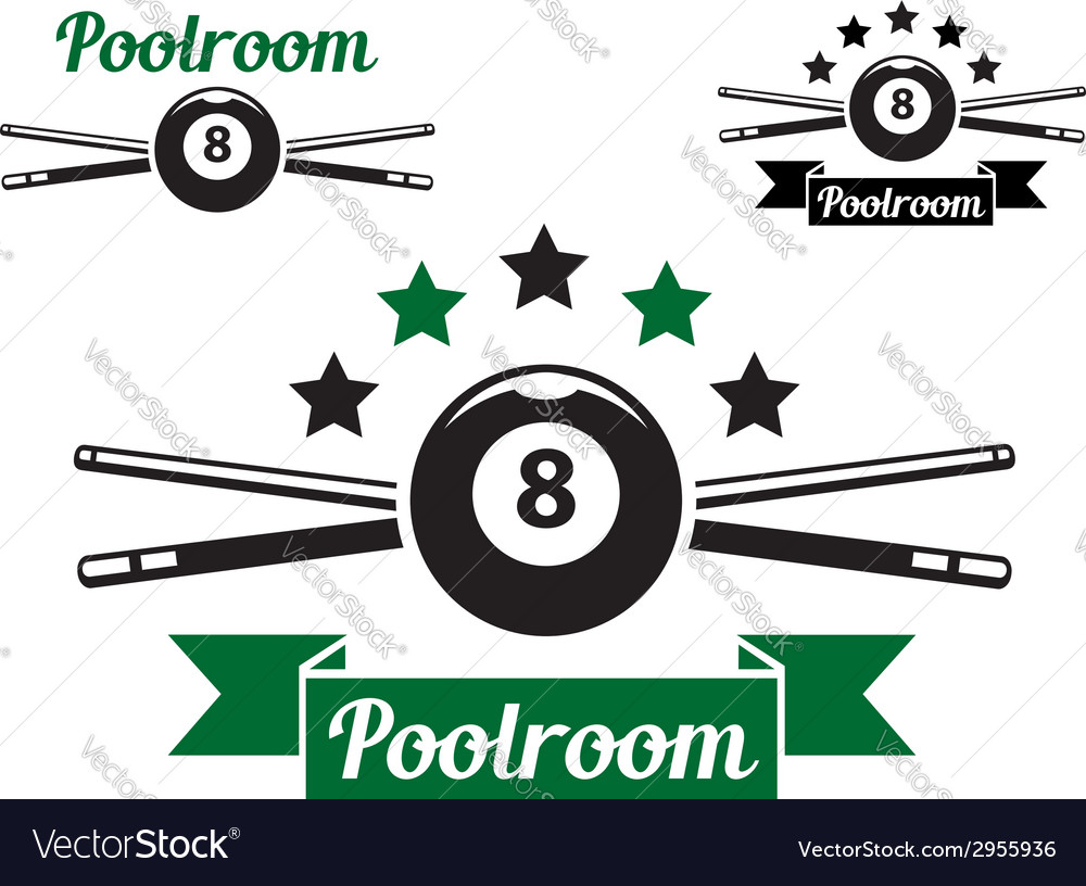 Billiard or snooker design vector
