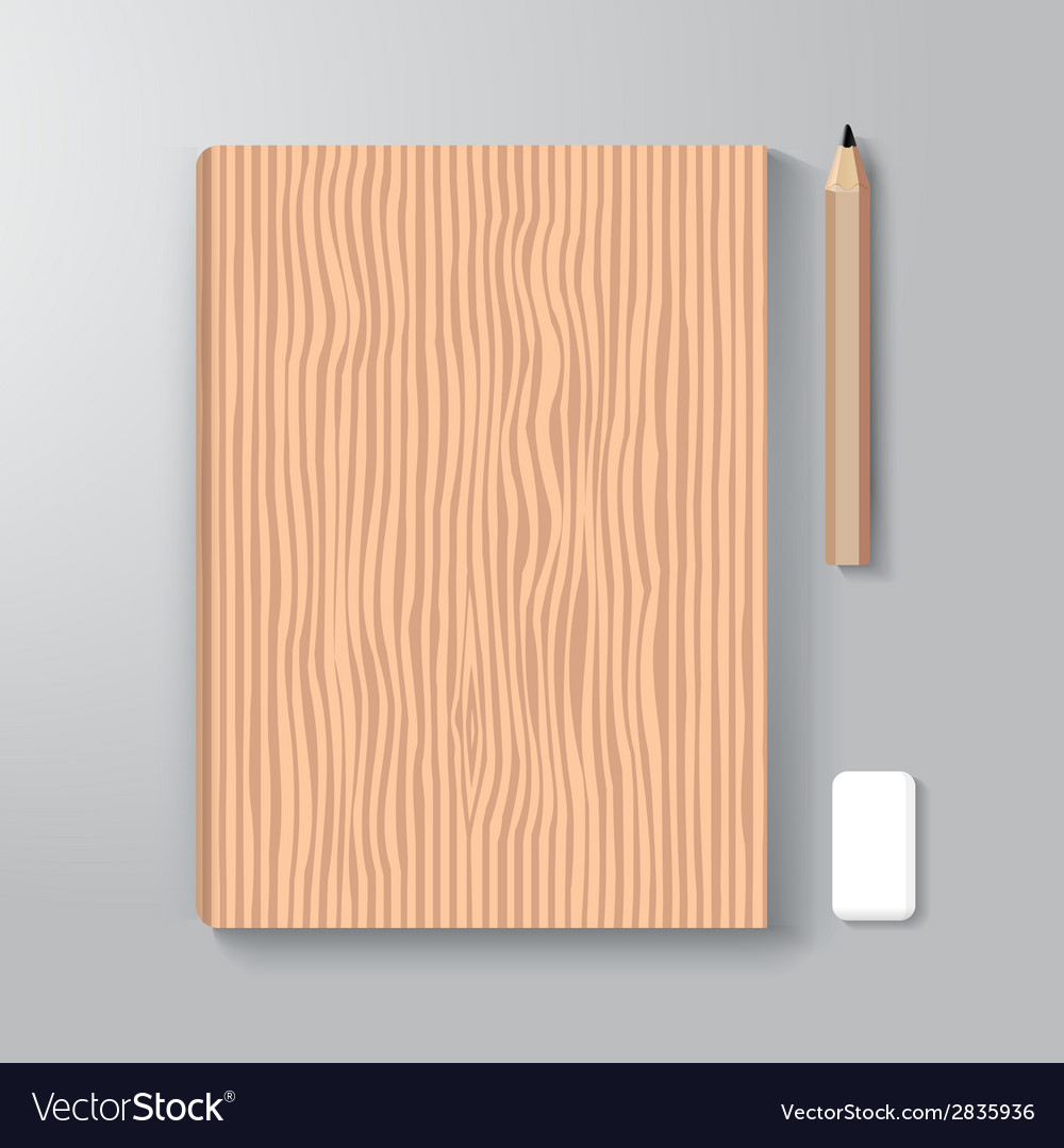 Book cover design style template wood textuer vector | Price: 1 Credit (USD $1)