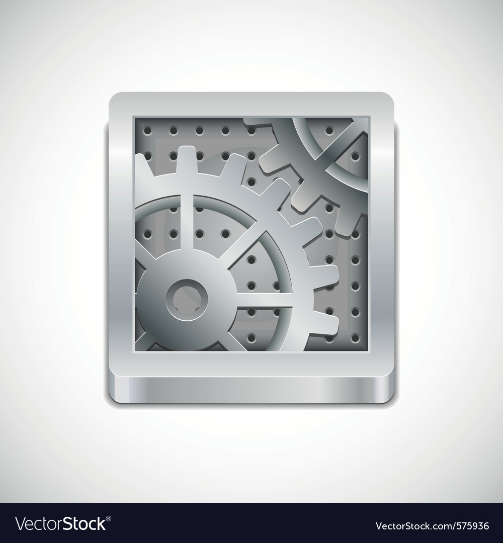 Computer settings icon vector | Price: 1 Credit (USD $1)